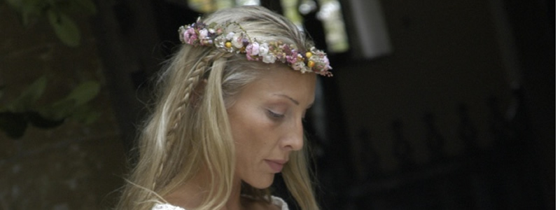 Bride at cotswold wedding ceremony