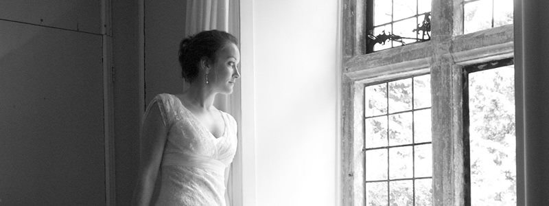 Bride before wedding ceremony