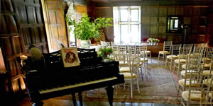 Romantic wedding venue - piano in Great Hall